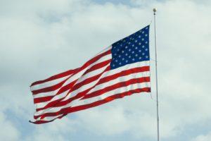 United States flag.