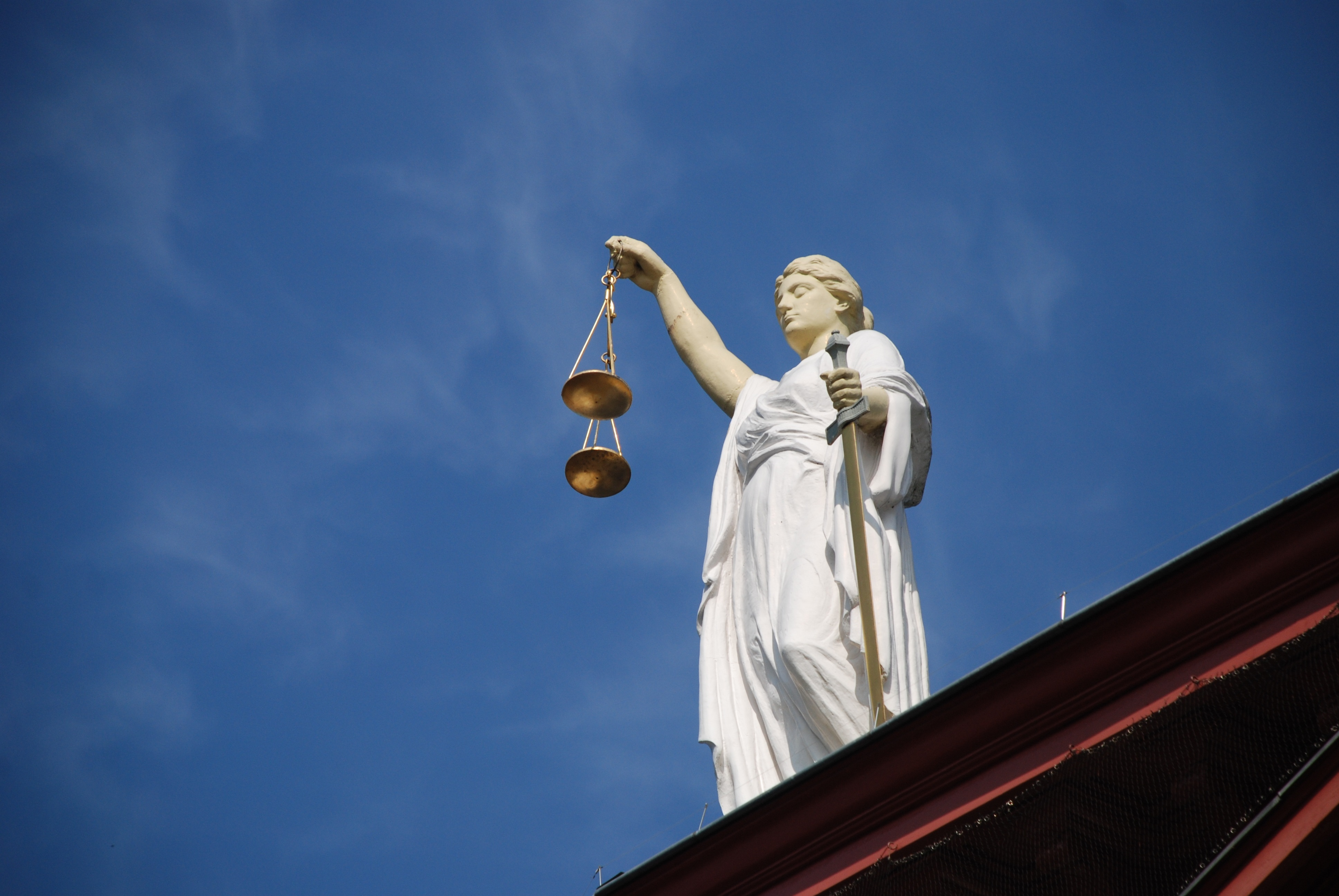 Statue of Lady Justice with Scales.